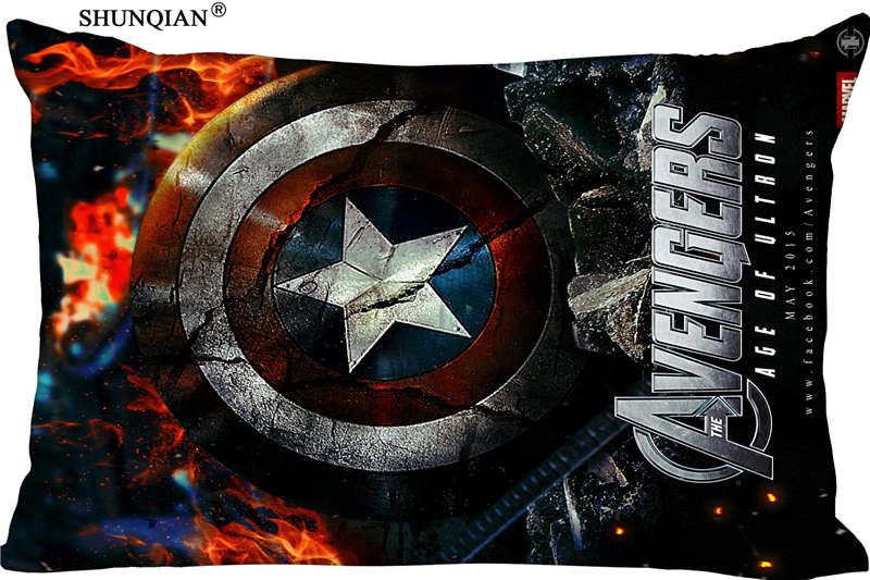 new the avengers age marvel pillow case custom wedding pillowcase cover cases gift zippered rectangle pillow case profusionwares