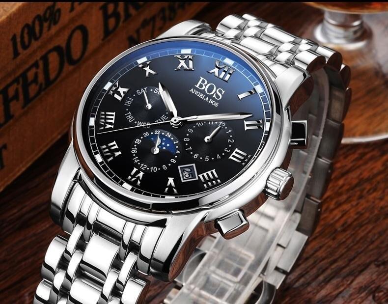 мужские часы лучший бренд роскошь на алиэкспресс