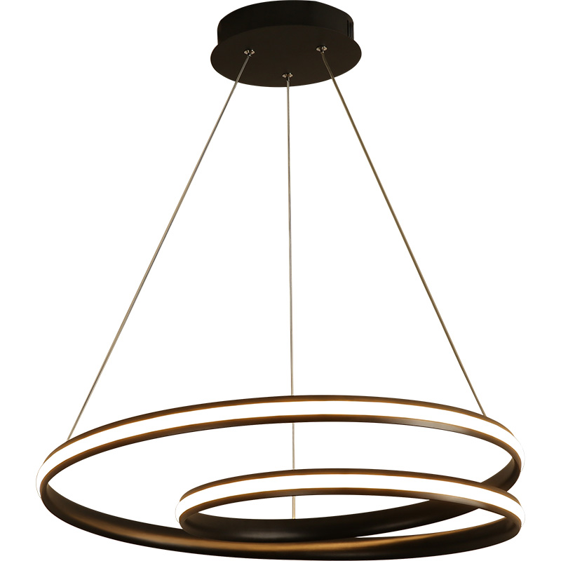 Us 87 0 25 Off Creative Modern Round Led Pendant Lights Adjule Height Hanging Lamp Dining Room Restaurant Living Fixtures In