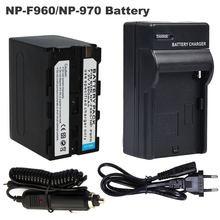 7200mAh bateria Li-ion Battery For Sony NP-F960 NP-F970 Camera Rechargeable Digital NP F960 F970 + Car Charger +EU Cable