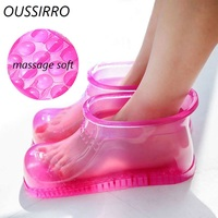 OUSSIRRO Foot Bath Massage Boots Household Relaxation Slipper Shoes Feet Care Hot Compress Foot Soak Theorapy Acupoint Sole