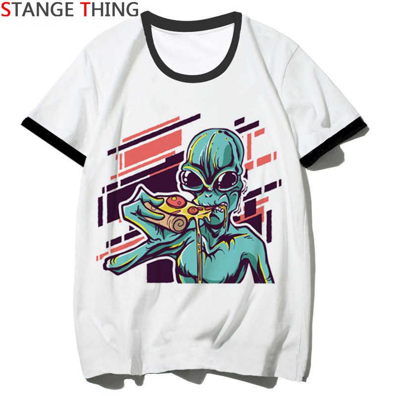 Satana Alien Divertente T-Shirt per Gli Uomini/Donne Et Del Fumetto di Stampa T Shirt Horror Hip Hop Unisex Maglietta a Maniche Corte top Magliette Maschio/Femmina