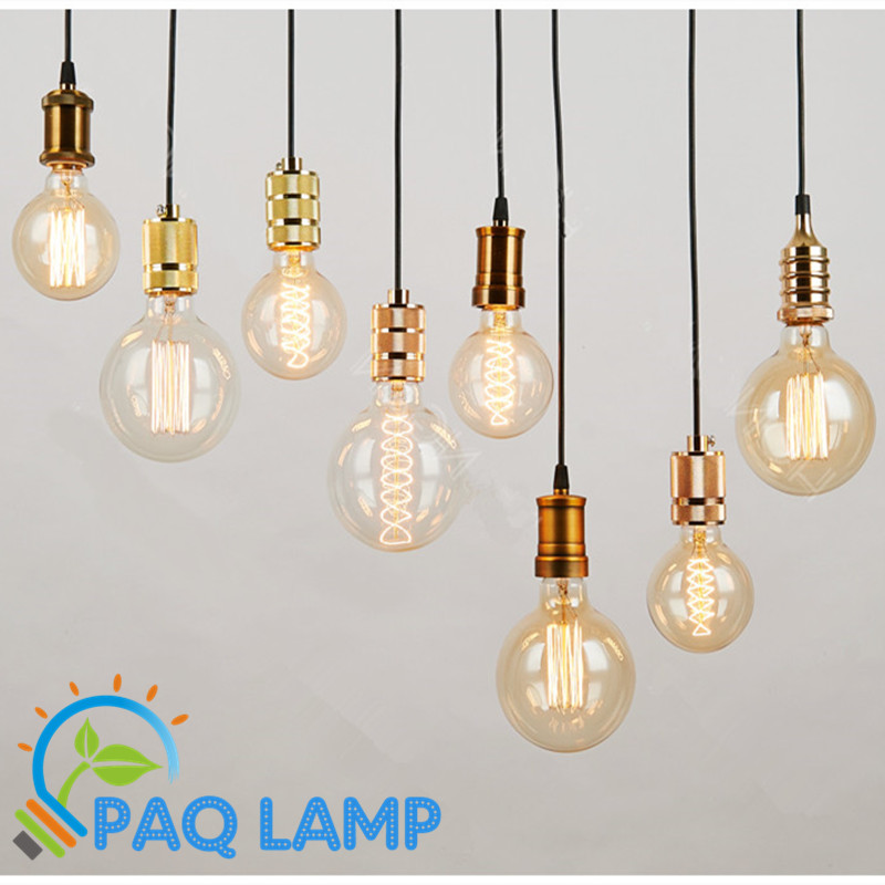 Simple pendant lamps vintage retro lights e27 e26 lamp for Eclairage salle de bain leroy merlin