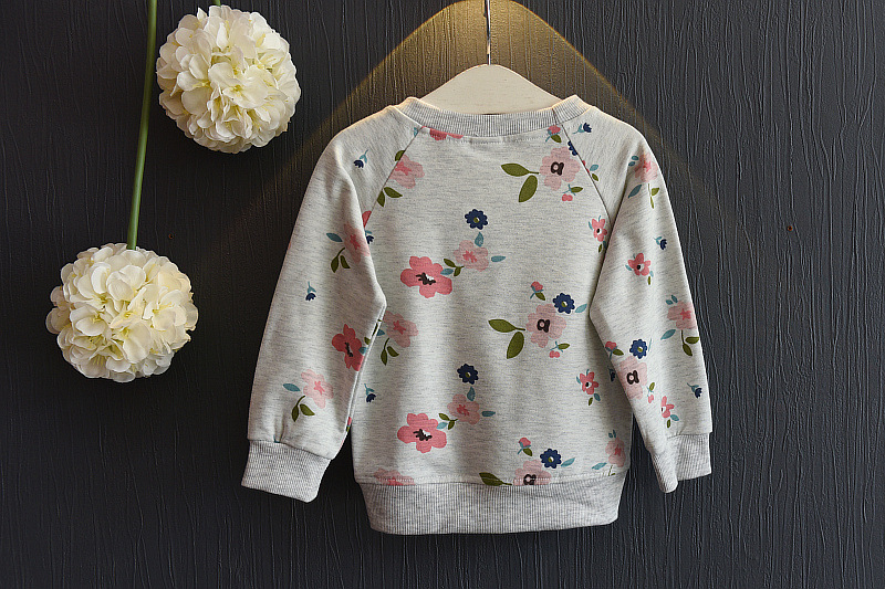Baby Girl's Casual Floral Printed Sweatshirts