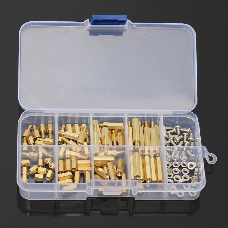 120pcs M3 Brass Male Female Hex Spacers Screw Nut Assortment Kit Stand-off Set Mayitr