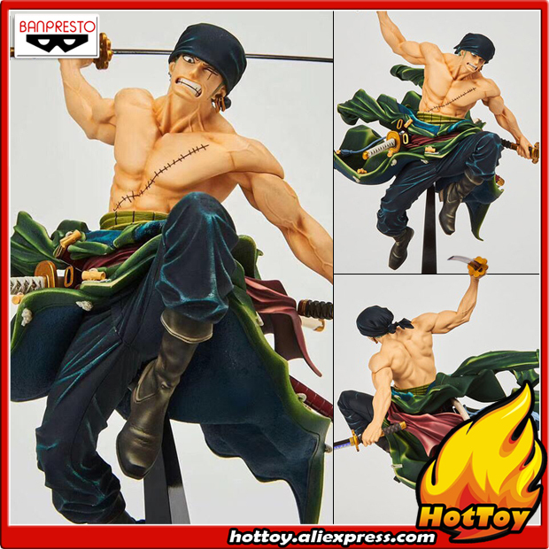 "100% Original Banpresto WORLD FIGURE COLOSSEUM BWFC Zoukeiou vol.1 Collection Figure - Zoro from ""ONE PIECE"""