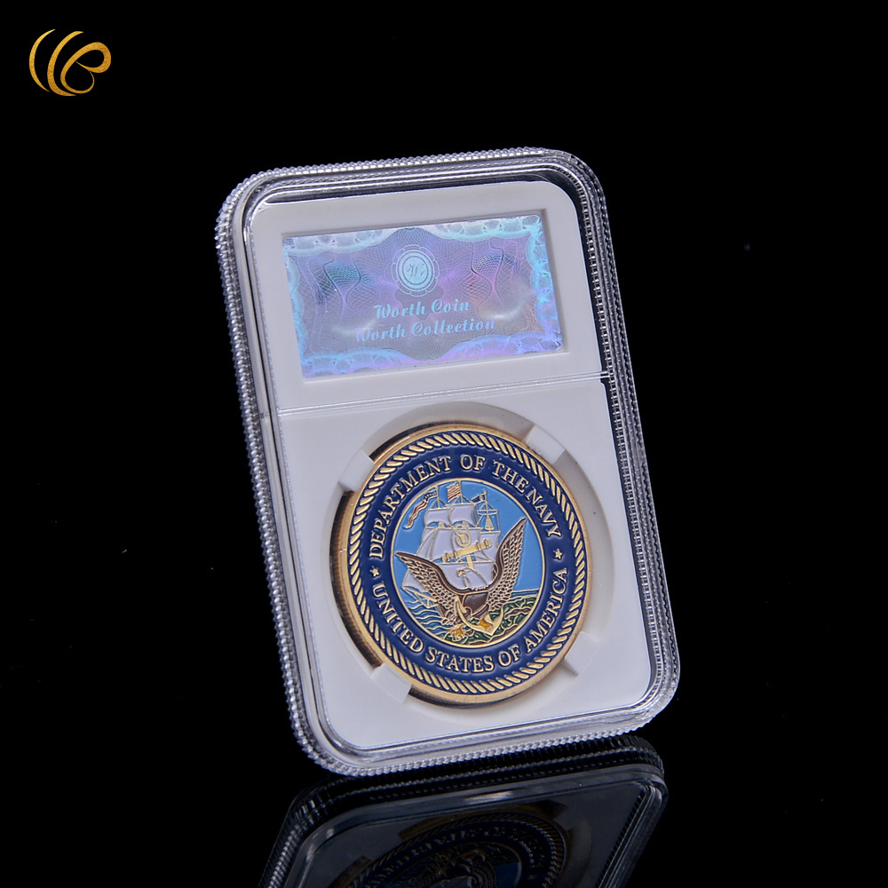 Scrapbook ideas china - Wr Birthday Gift Ideas Usa Army Coin 24k 999 9 Hot Sale Creative Metal Coins High Quality Metal Crafts With Security Box 40mm