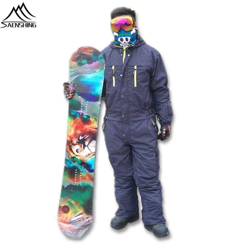 Prix pour Saenshing ski veste hommes hiver imperméable épaisse chaud snowboard veste d'une seule pièce de ski salopette Sport Snowboard et ski vestes