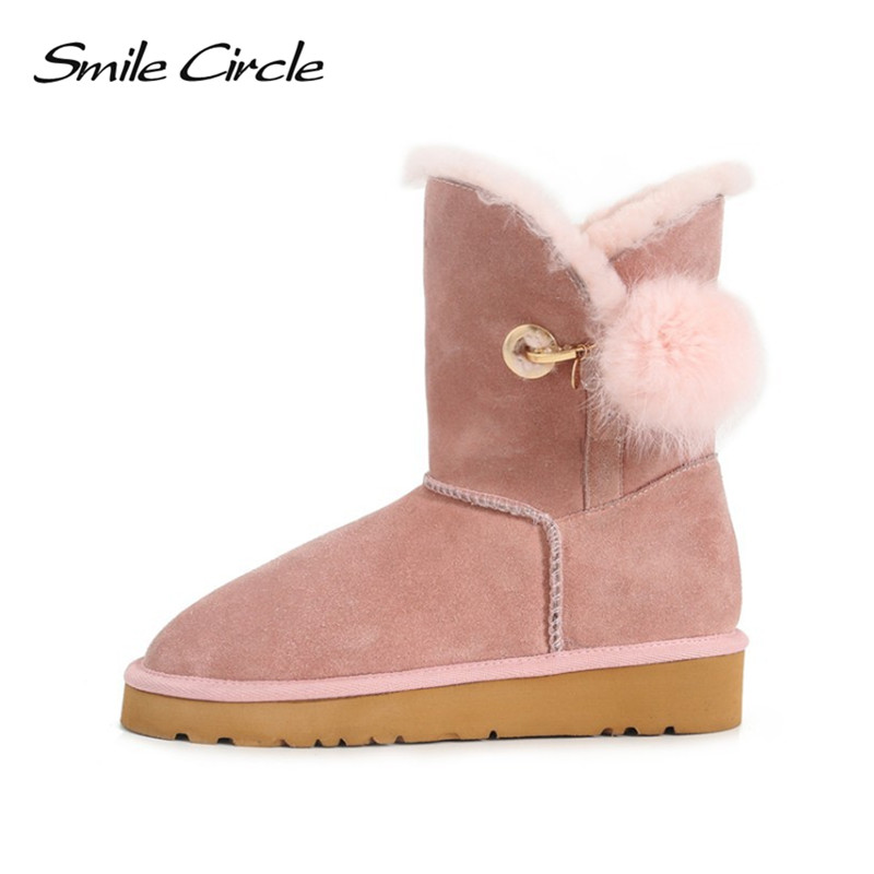 Winter Snow Boots 100% Australian Wool Classic Style Mujer Botas Women Boots Waterproof Genuine Sheepskin Leather Ankle Boots