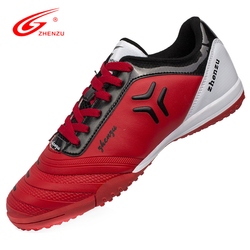 ZHENZU 2016 Rubber Sole Soccer Shoes TF Turf Training Shoes Football Boots Men Botas De Futbol Size 36-44 tiebao professional botas de futbol soccer shoes boys sports football boots tf turf soles soccer cleats training sneakers shoes