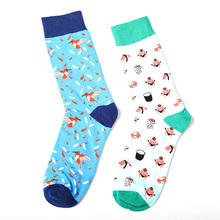 2019 Fashion Bird Flutter Pattern Cotton Men Socks Tide Brand British Style Casual Harajuku Designer Novelty Art Funny