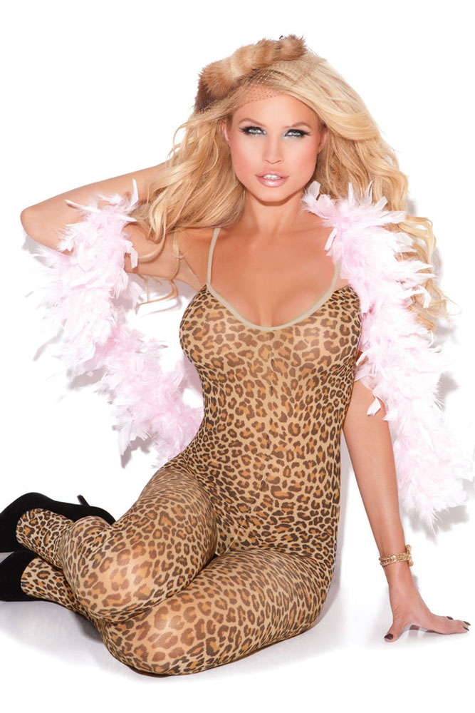 DearLover Female Fetal Leopard Spaghetti Straps Body Stockings Lingerie Sleepwear Underwear Womens Bodysuit Sex Products LC79798