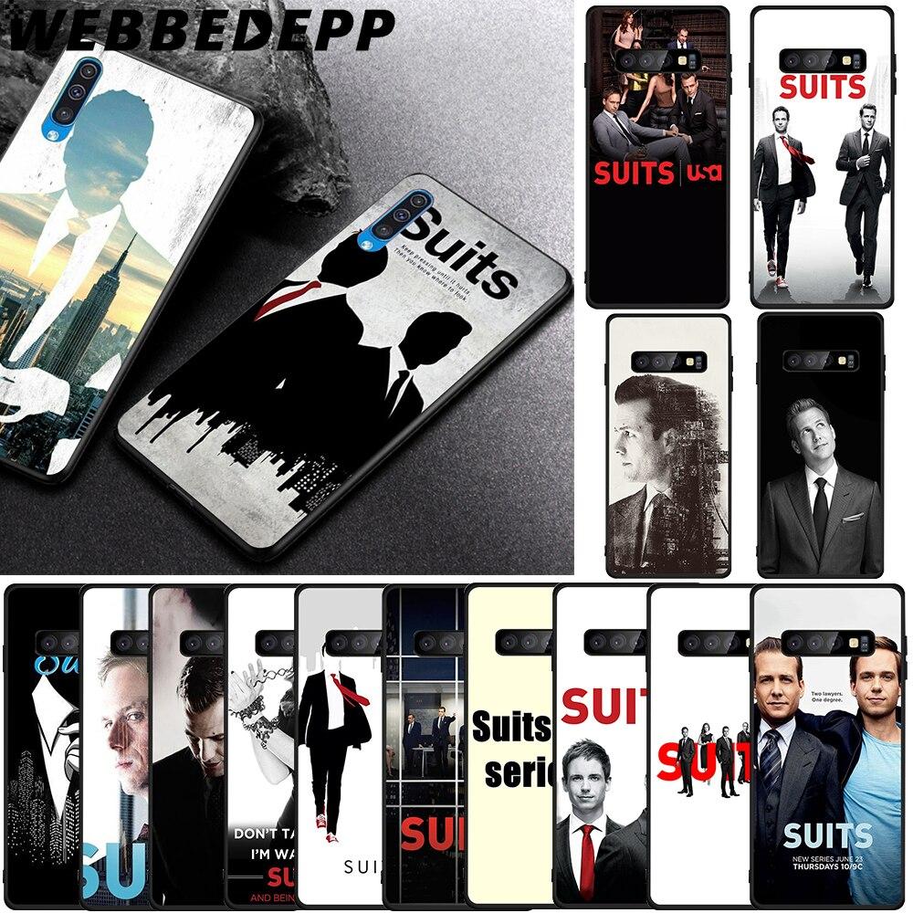 WEBBEDEPP SUITS TV series Soft TPU Case for Samsung Galaxy S6 S7 Edge S8 S9 S10 Plus S10e