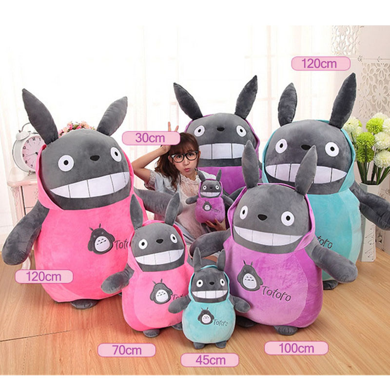 Fancytrader Big Anime Totoro Plush Toys Soft Stuffed Pop Cartoon Cat Doll Huge Birthday Xmas Gifts for Children 2 Sizes Availabl cartoon cute doll cat plush stuffed cat toys 19cm birthday gift cat high 7 5 inches children toys plush dolls gift for girl