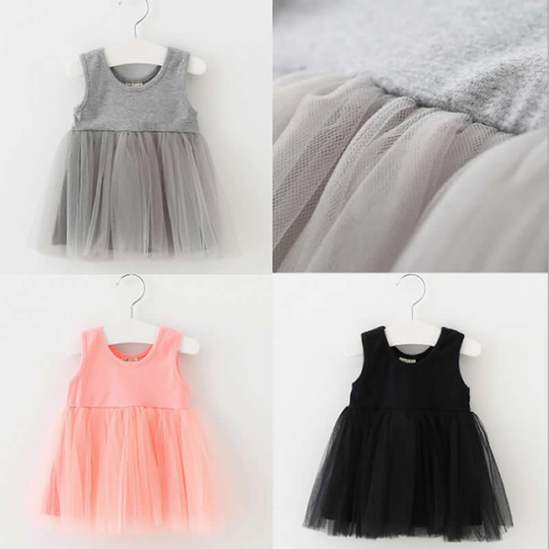 Toddler Kids Baby Girl Dress Costume Summer Sleeveless Lace Dress Sundress Girl Cotton Mesh Vest Dresses Tutu Princess kseniya kids toddler girl dresses 2017 brand new princess dress summer little girl dress sleeveless floral girls costume 2 10y