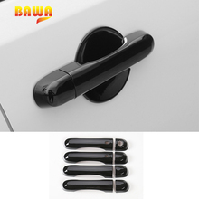 BAWA ABS Door Handles Cover for Jeep Renegade 2016-2017 Car Exterior Stickers Accessories for Jeep Renegade kaitlyn rice renegade