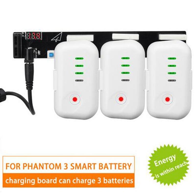 DJI Phantom 3 Multi Battery 3 Battery Parallel Charger Board Hub For DJI Phantom 3S/ SE /Adavanced/P4k/Professional Drone