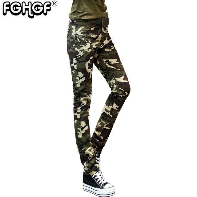Pantalon femmes 2018 camouflage pantalon femmes pantalon Cargo Pantalon de  Causalité Militaire Pantalon pour Femme Armée 83a3ade25cc