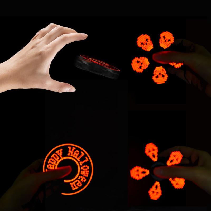 Halloween led volante della fidget spinner drone cubo di luce elettronico anti-stress relief giocattoli per i bambini bambini giocattolo boy regalo Di Natale