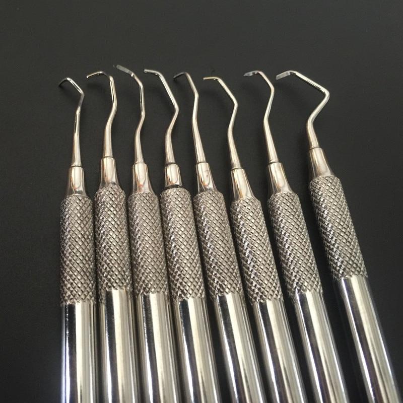 8 Pcs/Set Dental Professional Gracey Curette Periodontal Bone Curettes Perio