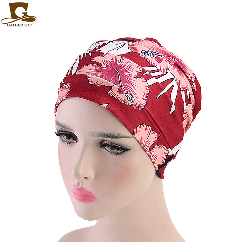 New Womens Soft cotton Chemo Cap and Sleep Turban Hat Liner for Cancer Hair Loss Headwear Head wrap turbante Hair accessories