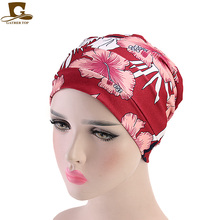 New Womens Soft cotton Chemo Cap and Sleep Turban Hat Liner for Cancer Hair Loss Headwear Head wrap turbante accessories