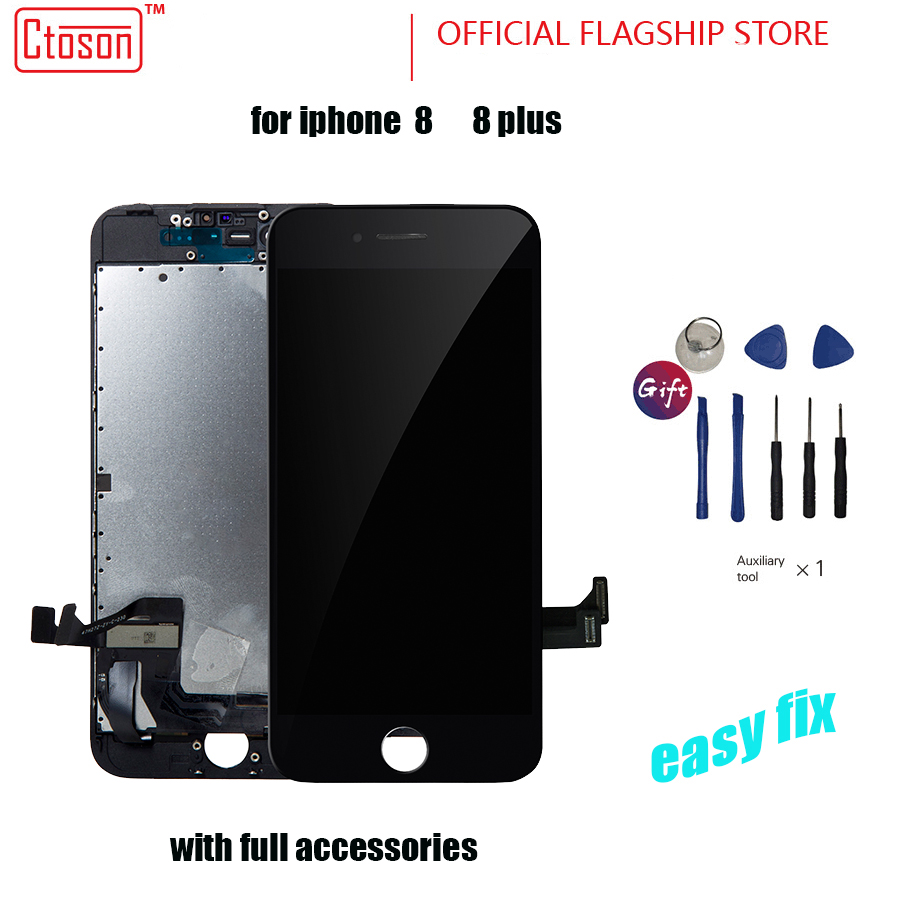20 PCS/LOT 100% AAAA Original LCD Screen For iPhone 8 Screen LCD Display Digitizer Touch Screens Replacement LCDS