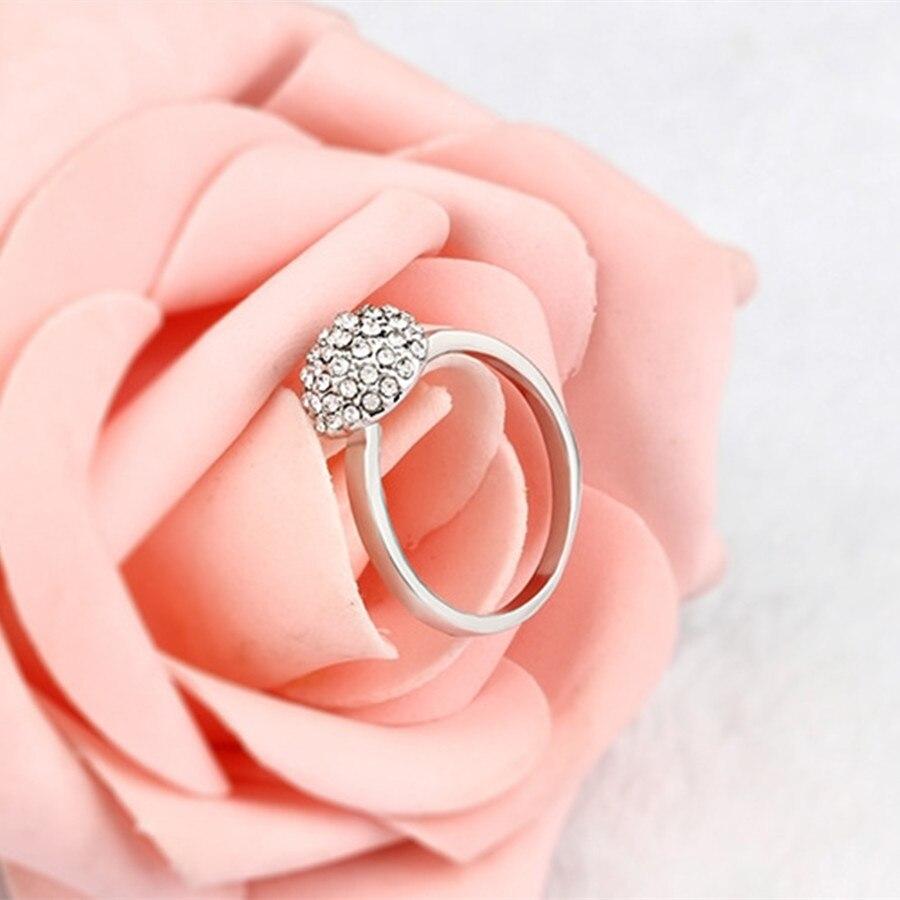 WLP Brand Round Shape Ring Full Hydraulic Drill Romantic Style Cute ...