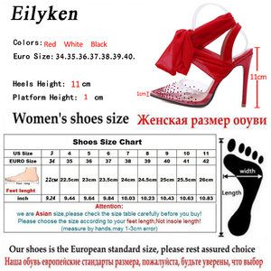 Image 5 - Eilyken New Women high heels Sexy Pumps Stiletto Pointed toe Party Ankle Strappy high heels Red Black Ladies Wedding shoes