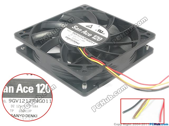 Sanyo 9GV1212P4G011 Server Square fan DC 12V 1.68A 120x120x25mm
