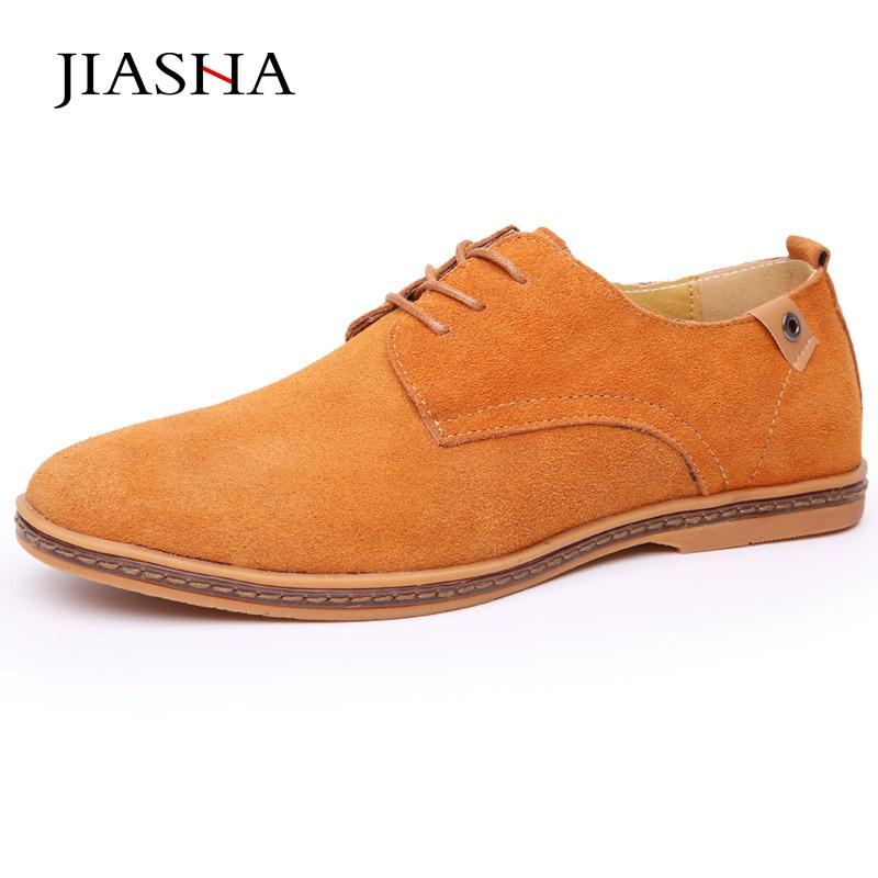 2017 новые модные однотонные мужская повседневная обувь дышащие удобные  замшевые туфли a58199077d1
