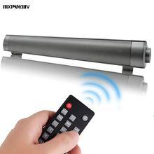 MXPOKWV Wireless Bluetooth Subwoofer Mini MP3 TF Card Speaker Louderspeaker Stereo Super Bass 2X5W Sound Bar TV Remote Control