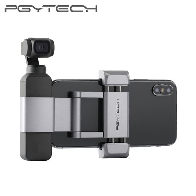 PGYTECH OSMO Pocket Phone Holder Plus Set Foldable+All aluminum /Universal Tripod Bracket for DJI OSMO Pocket Accessories