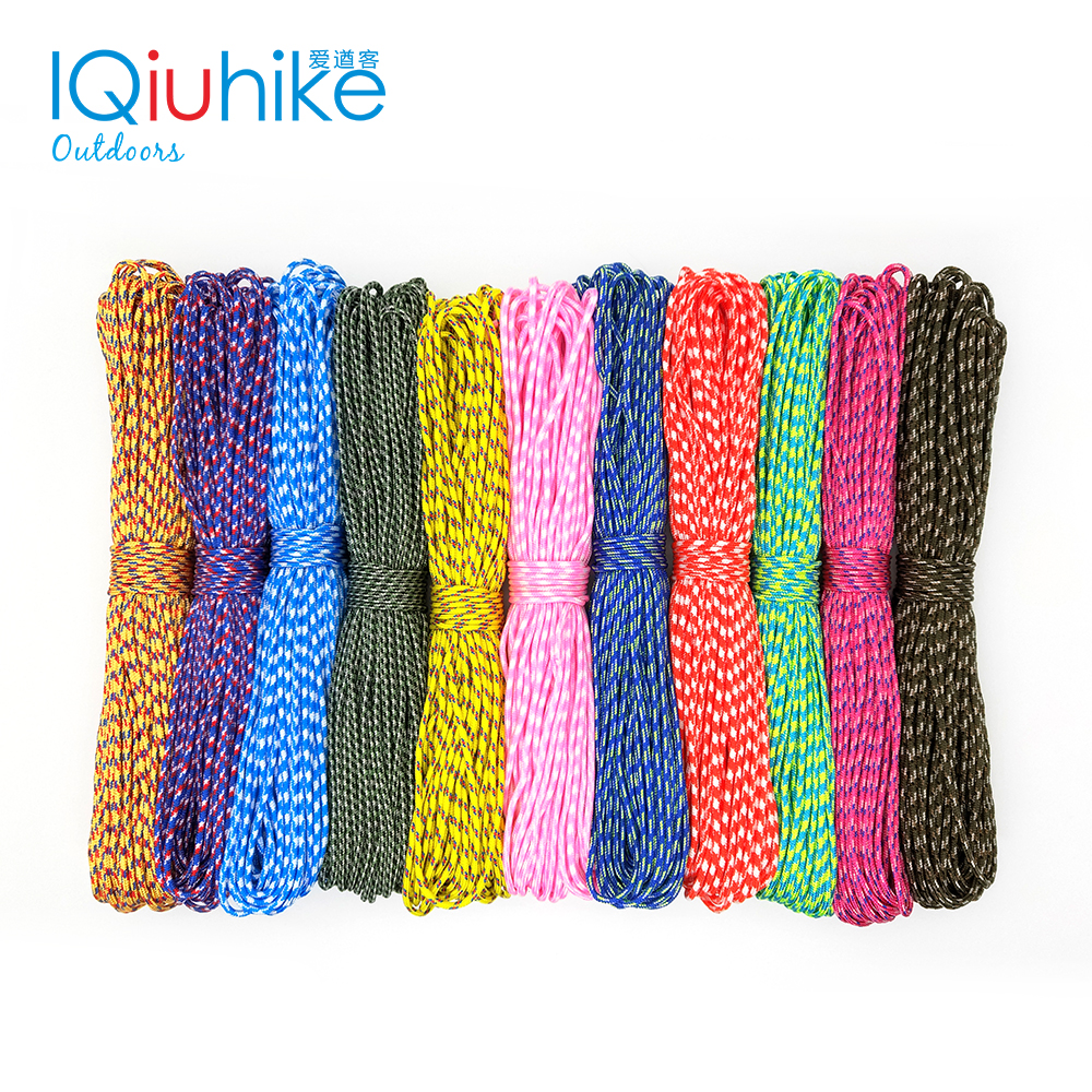 IQiuhike 25FT 50FT 100FT (31Meters) Dia. 2mm One Stand Cores For Survival Parachude Cord Lanyard Camping Climbing Rope