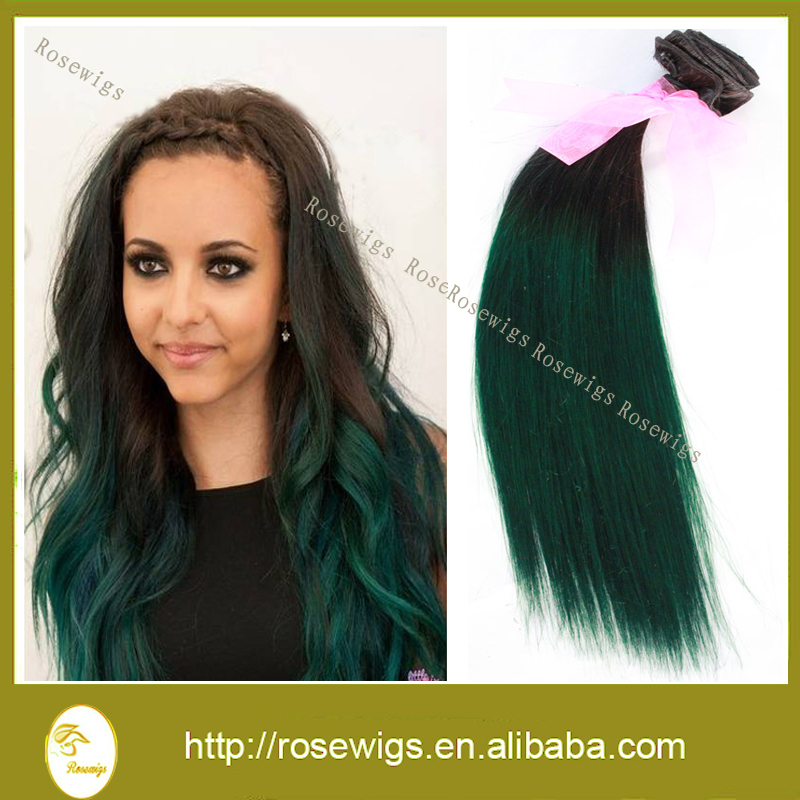 3 pcslot best quality 7a malaysian virgin hair straight 1bgreen 3 pcslot best quality 7a malaysian virgin hair straight 1bgreen two tone ombre hair extensions green ombre human hair weaves in hair weaves from hair pmusecretfo Gallery