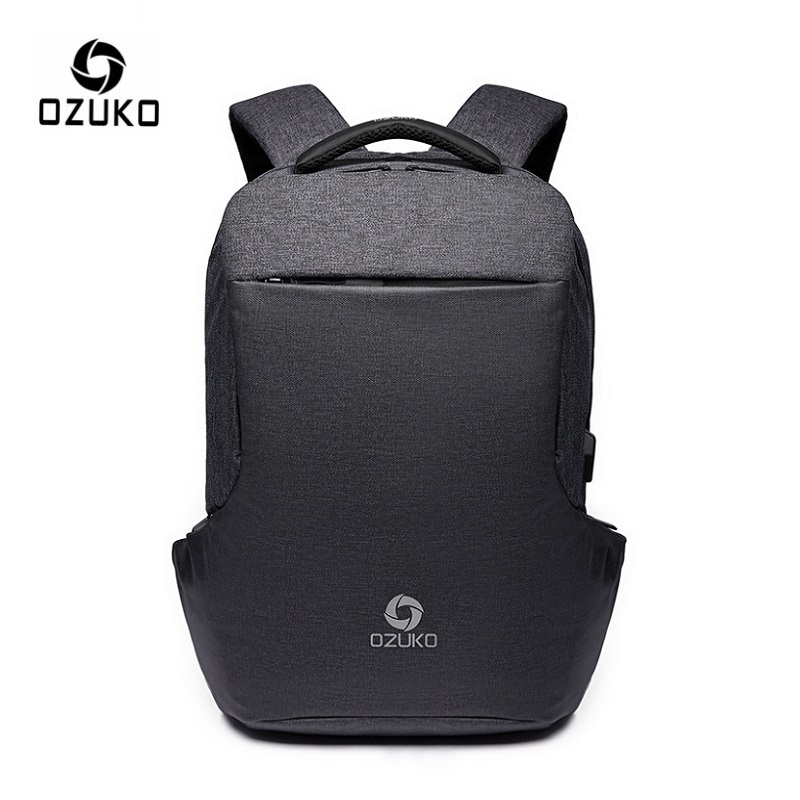 OZUKO New Men s 15 6 Inch Laptop Backpack USB Charging Male Backpacks Schoolbag for Teenager