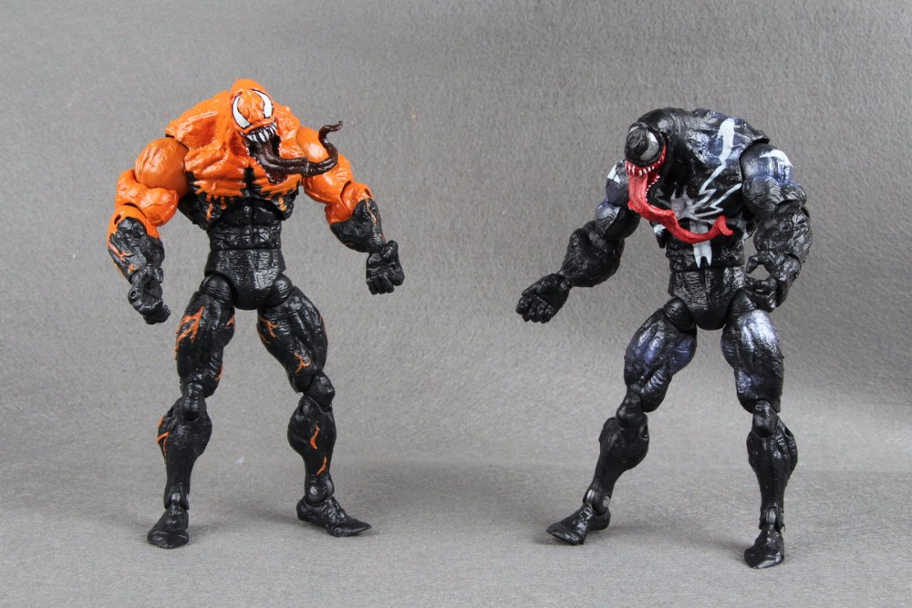 Surper Rare Marvel Legends Spiderman Classics Black Orange VENOM 7in. Action Figure