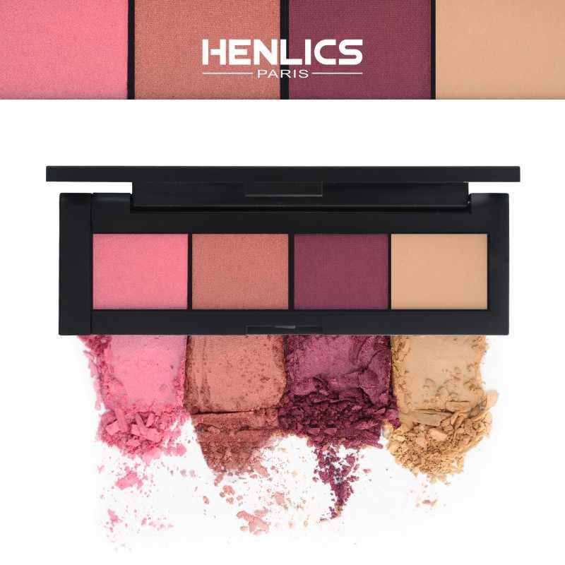 HENLICS Shimmer oogschaduw palette gemakkelijk te dragen langdurige 4 kleuren matte Oogschaduw palet Cosmetische professionele schaduwen