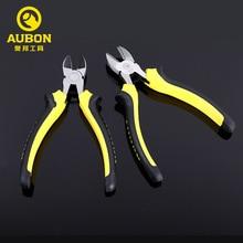"Купить с кэшбэком AUBON 1pc* 6"" Diagonal Cutting Pliers Plastic Side Cutter Diagonal Pliers Cable Cutters Electrician Hand Tools"