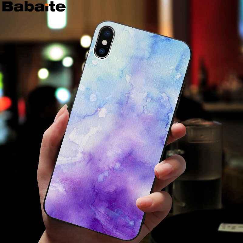 Babaite acuarela TPU funda de teléfono de silicona suave para iPhone 8 7 6S Plus 5 5S SE XR X XS X MAX Coque Shell
