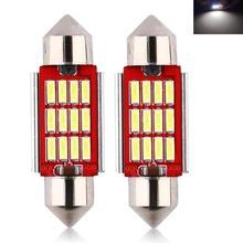 Car LED 39MM 3W 1000LM 6000K 12LED 4014SMD White Light bulbs Light-emitting diode free of freight