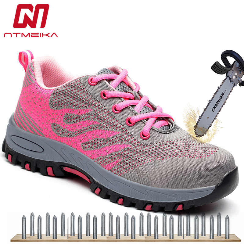 1736c242 US $24.4 39% OFF|Fast Shipping Women Work Safety Shoes Steel Toe Casual  Safety Boots Women Lace up Safety Toe Work Boots For Women Big Size 35  40-in ...