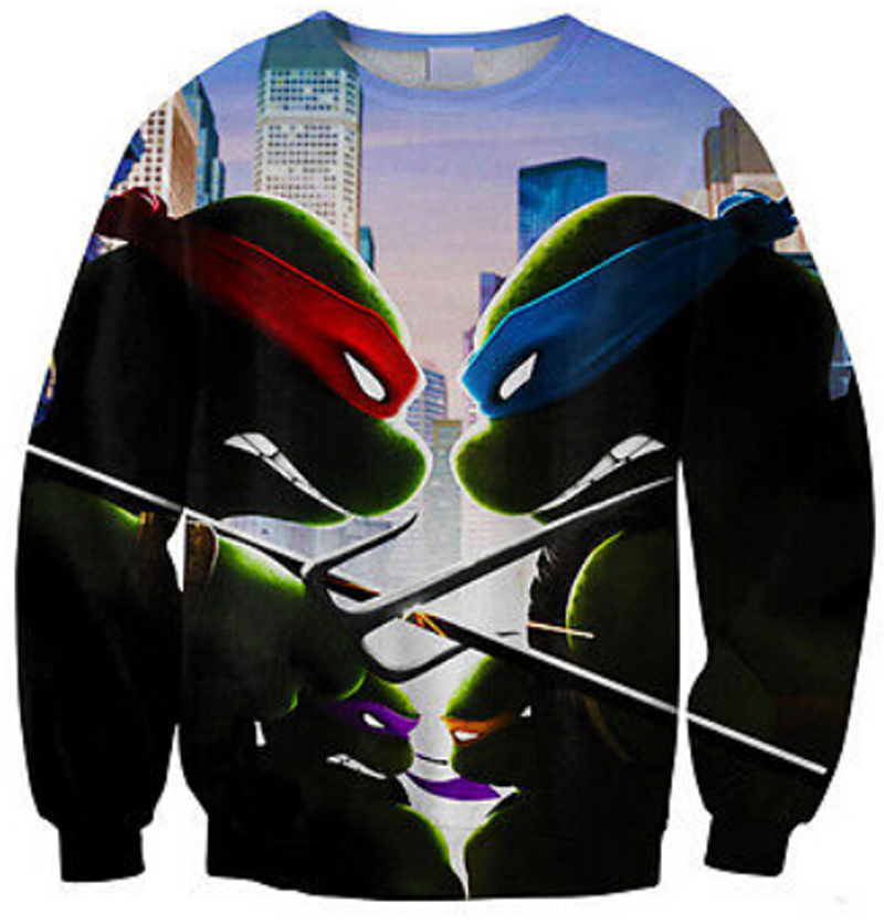 New 2018 alien patchwork print 3D graphic sweatshirt fall full sleeve cartoon hoodies for men women unisex crewneck clothes