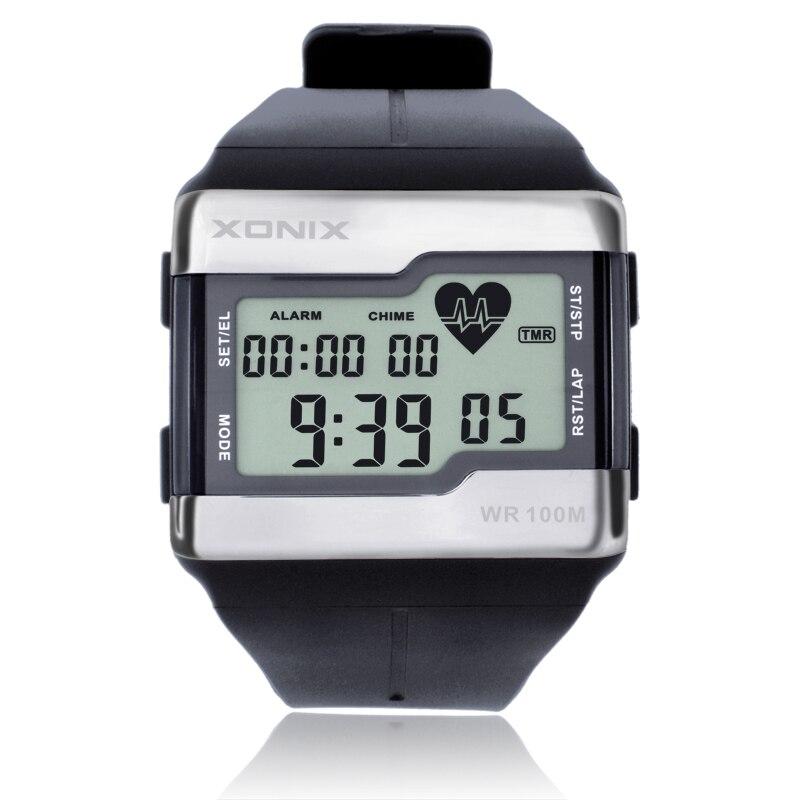 BINZI роскошные часы мужские спортивные часы для мужчин светодиодные цифровые водонепроницаемые часы военные мужские кварцевые наручные час... - 2