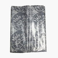 African New Design 5Yards Good Quality Bazin Riche Fabric Handmade Mail Brocade Fabric Grey color brocade lace