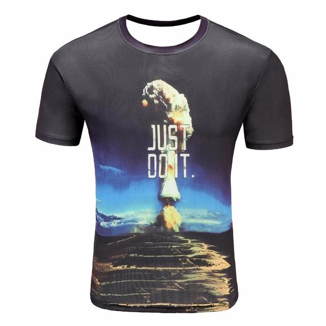 New  t shirts Fashion 3D t shirt  Male Loose Streetwear t shirt men Tops Men's t-shirt  With Print  Lightning/ small trees/