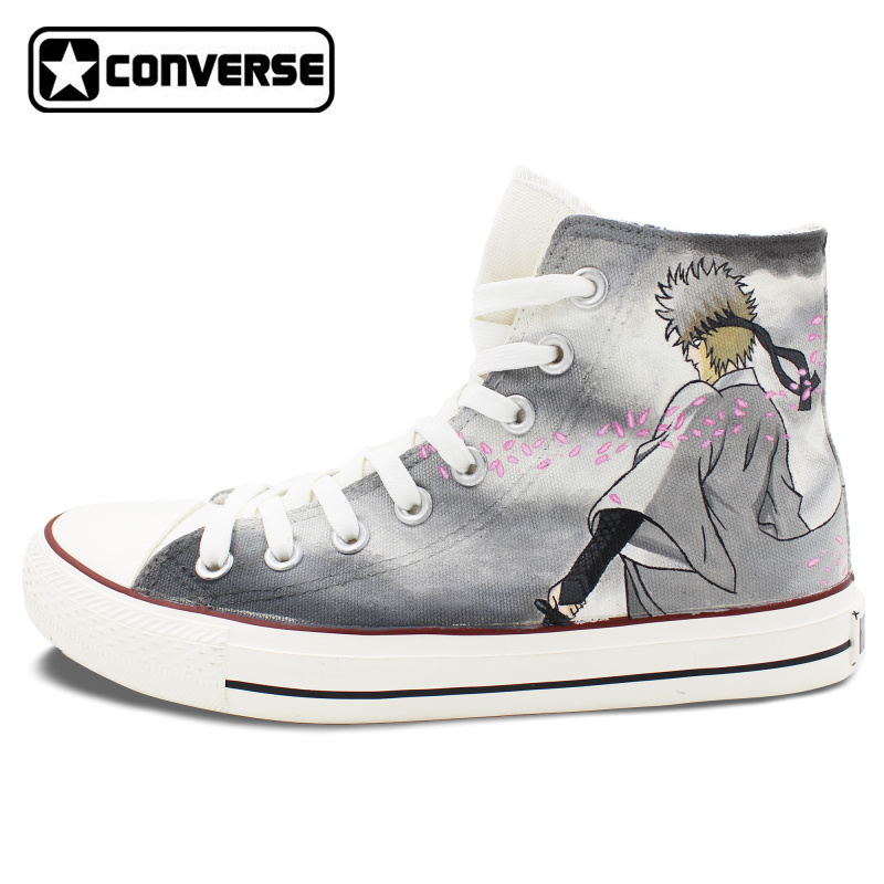Gintama Anime Converse Chuck Taylor Mens Womens Shoes Hand Painted High Top Sneakers Man Woman Cosplay Best Gifts converse chuck taylor women men shoes anime tokyo ghouls custom design hand painted shoes high top white sneakers cosplay gifts