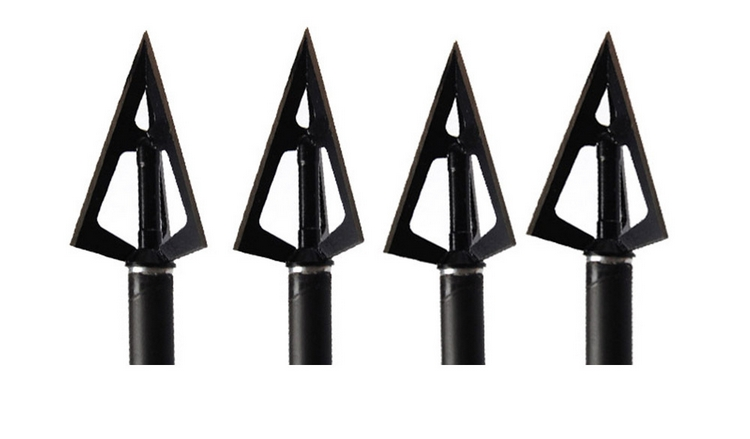 12pcs lot Universal 100 grains Stainless Steel Arrow Head Hunting Shooting Arrow Tips Outdoor font b