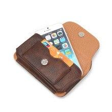 Кожаный пояс чехол телефон Чехол сумка кобура слот для карты для Meizu Pro 6 plus/MX5e/Asus Zenfone 3 Max ZC553KL 5.5″