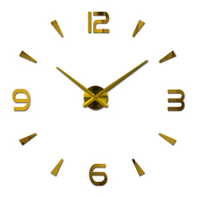 2015 Hot Sale Wall Clock Reloj De Pared Acrylic Mirror Clocks Europe Diy 3d Stickers Large Decorative Quartz Watch Living Room